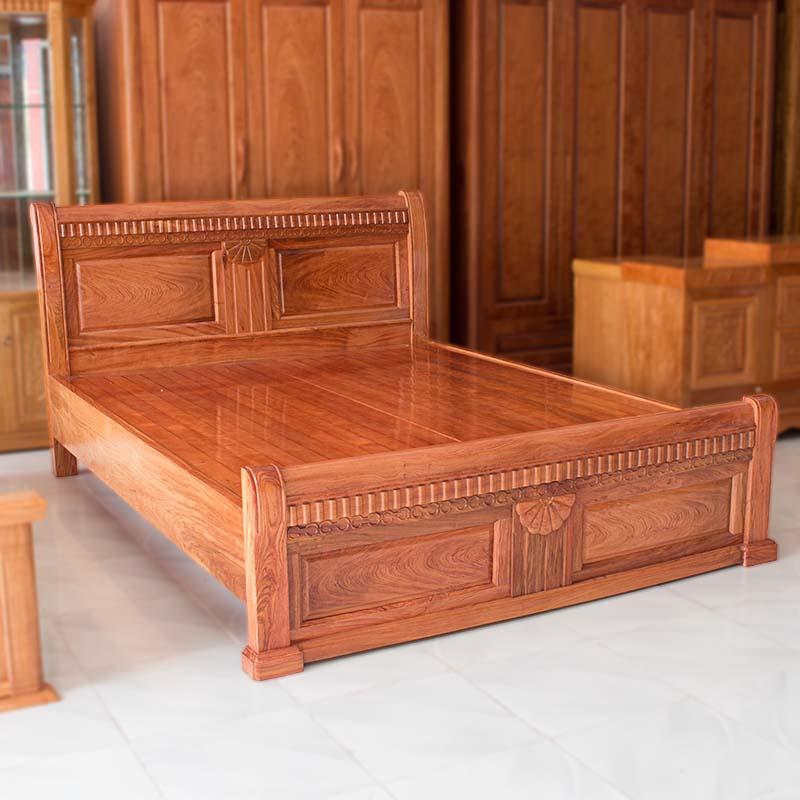 Giường Ngủ gỗ Hương Vân cao cấp