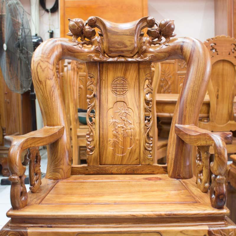 Hình ảnh:Salon Gỗ Hương Vân Tay 12 Chạm Đào 6 Món