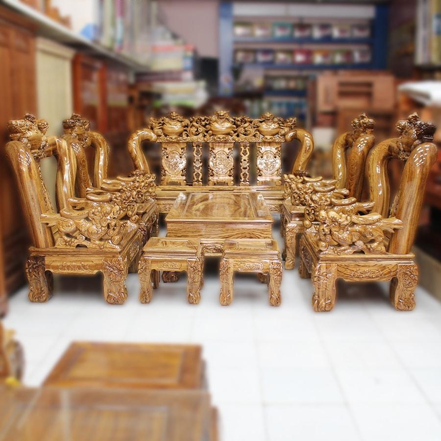 ĐIỂM DANH 7 BỘ BÀN GHẾ SA LÔNG GỖ GIÁ RẺ ẤN TƯỢNG Ở TPHCM
