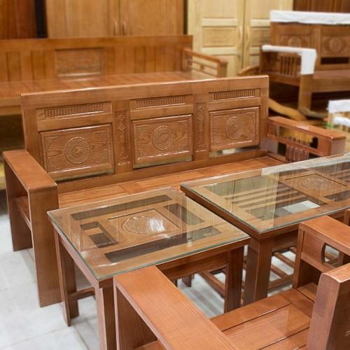 Salon Hộp Gỗ Sồi Trống Đồng