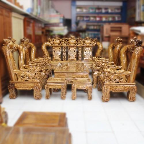 Ghế salon gỗ đẹp — Bàn Ghế Gỗ Phòng Khách - Nội Thất Gỗ ...