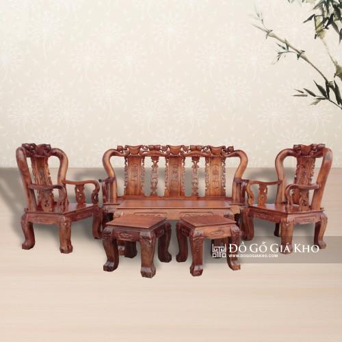 Bàn ghế gỗ tràm chạm đào Tay 10